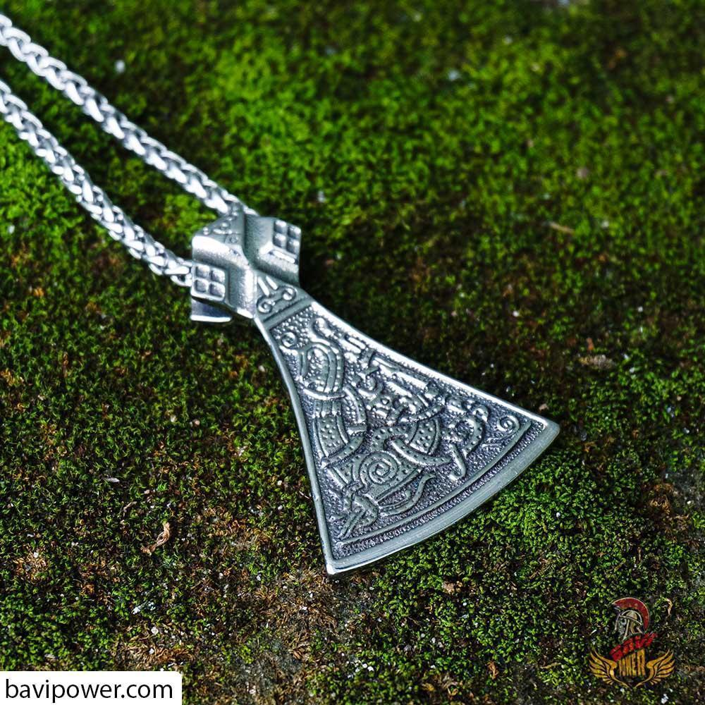 Viking Battle Axe Pendant Necklace