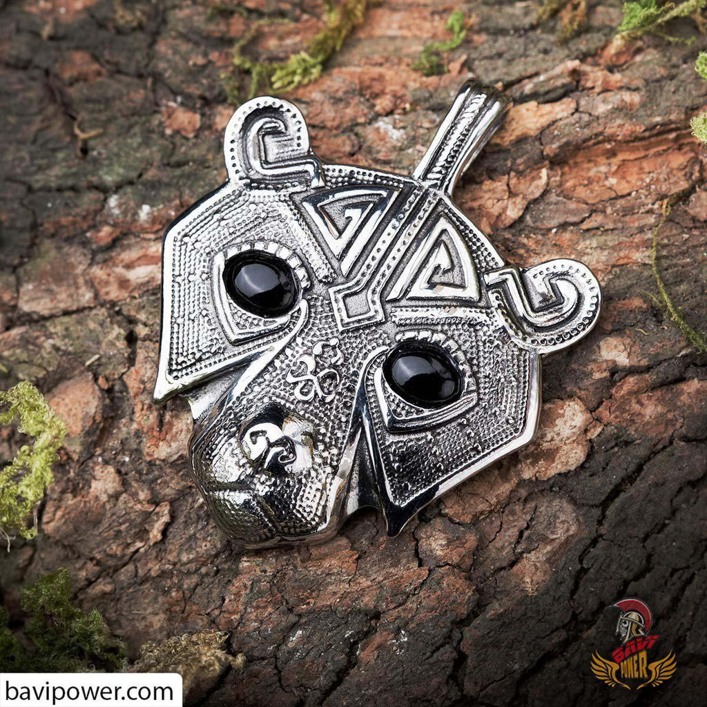Viking Bear Head Pendant