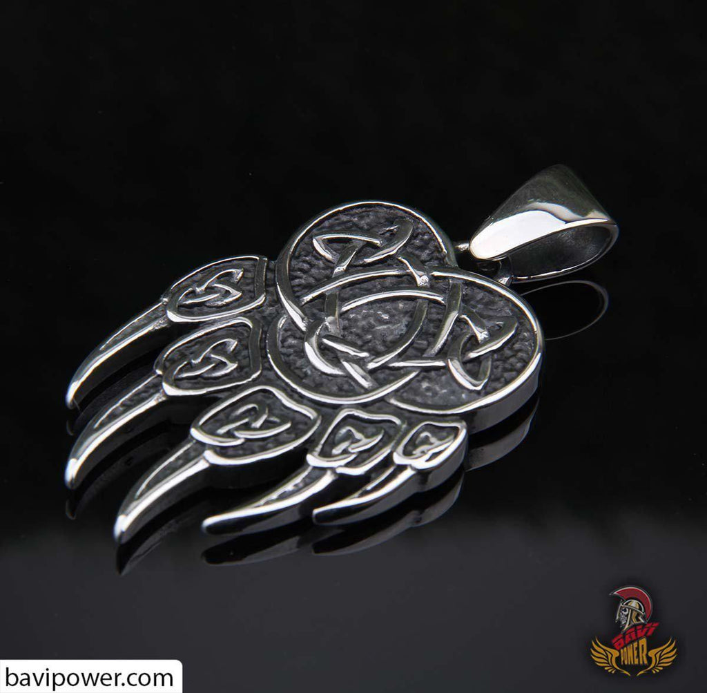 Viking Bear Paw Pendant