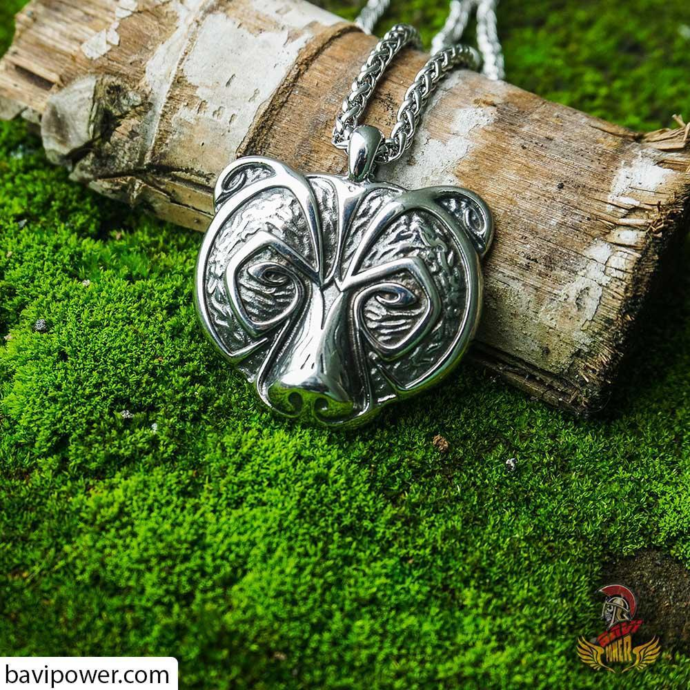 Viking Berserker Bear Pendant Necklace