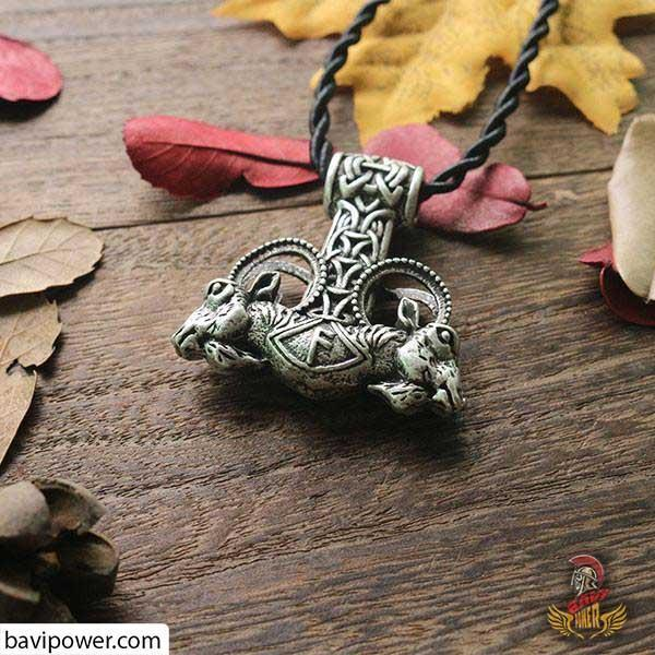 Viking Goat Amulet Necklace