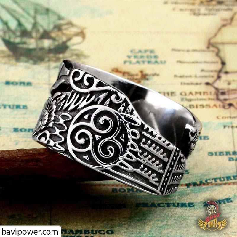 Viking Raven Ring Adjustable Size
