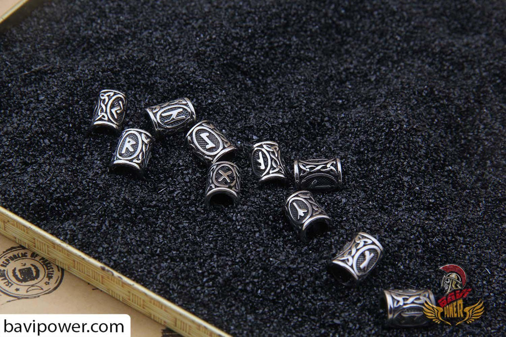 Viking Rune Bead 10 beads pack