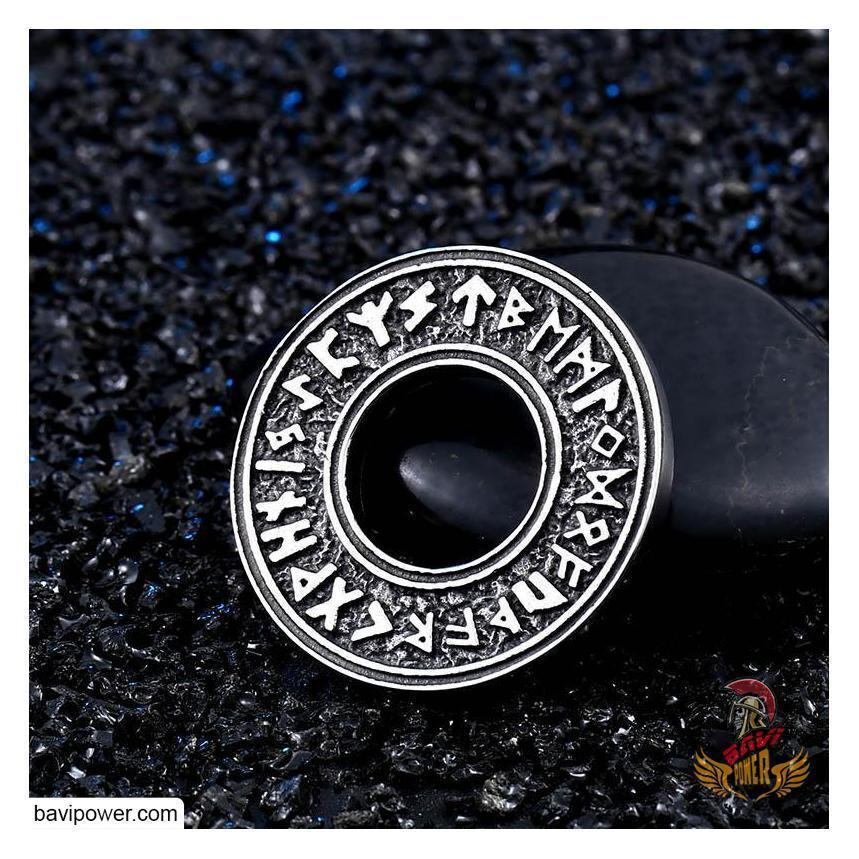 Viking Rune Circle Pendant Necklace