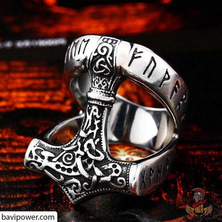 bavipower-viking-jewelry-Viking Runic Thor's Hammer Ring-ring-BaViPower-7-BaViPower