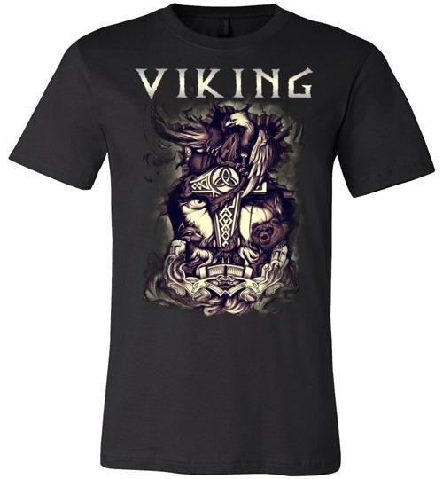 bavipower-viking-jewelry-Viking T-shirt BVP001-BaViPower-Canvas Unisex T-Shirt-Black-S-BaViPower