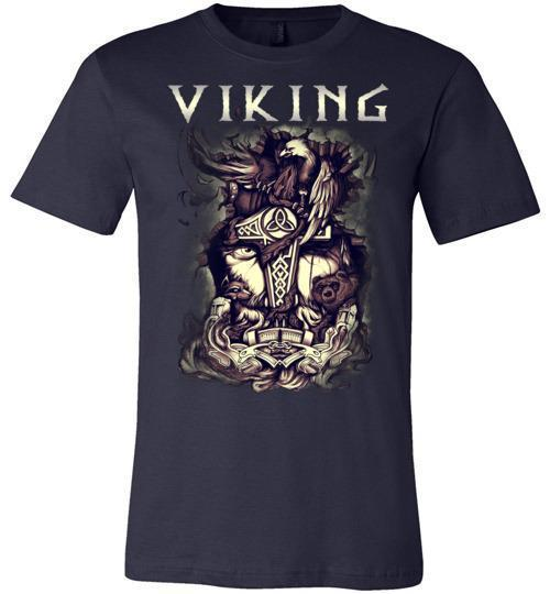 bavipower-viking-jewelry-Viking T-shirt BVP001-BaViPower-Canvas Unisex T-Shirt-Navy-S-BaViPower
