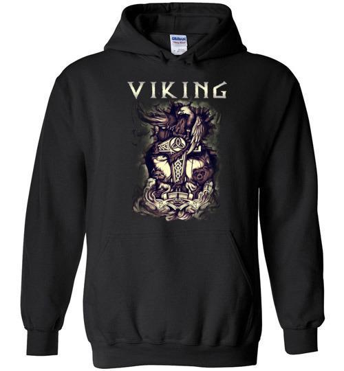 bavipower-viking-jewelry-Viking T-shirt BVP001-BaViPower-Gildan Heavy Blend Hoodie-Black-S-BaViPower