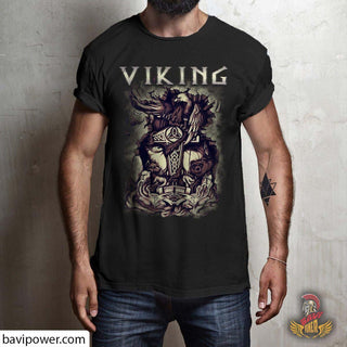 bavipower-viking-jewelry-Viking T-shirt BVP001-BaViPower-Gildan Short-Sleeve T-Shirt-Black-S-BaViPower
