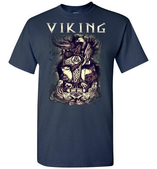bavipower-viking-jewelry-Viking T-shirt BVP001-BaViPower-Gildan Short-Sleeve T-Shirt-Navy-S-BaViPower
