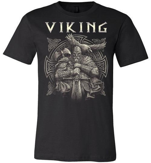 bavipower-viking-jewelry-Viking T-shirt BVP002-BaViPower-Canvas Unisex T-Shirt-Black-S-BaViPower