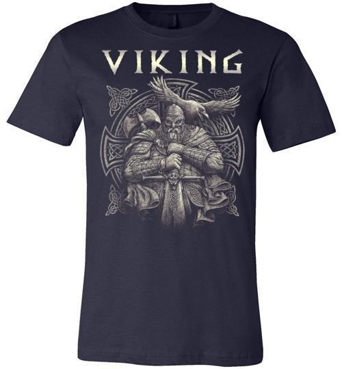 bavipower-viking-jewelry-Viking T-shirt BVP002-BaViPower-Canvas Unisex T-Shirt-Navy-S-BaViPower