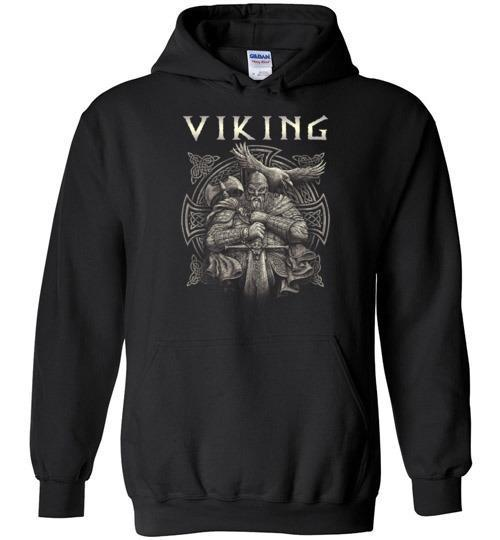 bavipower-viking-jewelry-Viking T-shirt BVP002-BaViPower-Gildan Heavy Blend Hoodie-Black-S-BaViPower