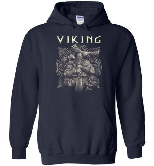 bavipower-viking-jewelry-Viking T-shirt BVP002-BaViPower-Gildan Heavy Blend Hoodie-Navy-S-BaViPower