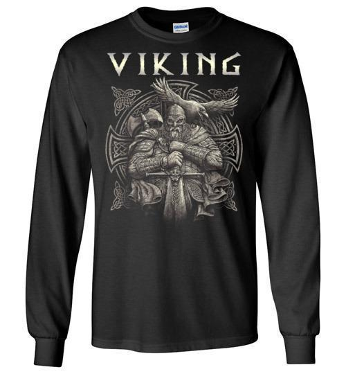 bavipower-viking-jewelry-Viking T-shirt BVP002-BaViPower-Gildan Long Sleeve T-Shirt-Black-S-BaViPower