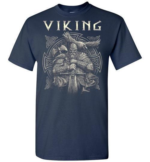 bavipower-viking-jewelry-Viking T-shirt BVP002-BaViPower-Gildan Short-Sleeve T-Shirt-Navy-S-BaViPower
