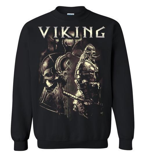 bavipower-viking-jewelry-Viking T-shirt BVP003-BaViPower-Gildan Crewneck Sweatshirt-Black-S-BaViPower