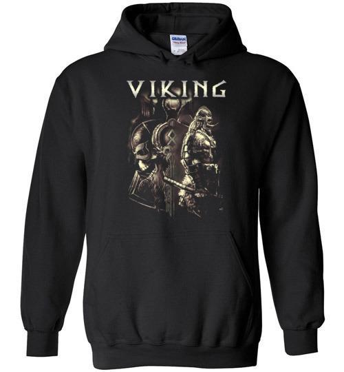 bavipower-viking-jewelry-Viking T-shirt BVP003-BaViPower-Gildan Heavy Blend Hoodie-Black-S-BaViPower