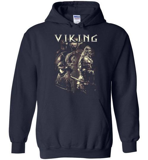 bavipower-viking-jewelry-Viking T-shirt BVP003-BaViPower-Gildan Heavy Blend Hoodie-Navy-S-BaViPower
