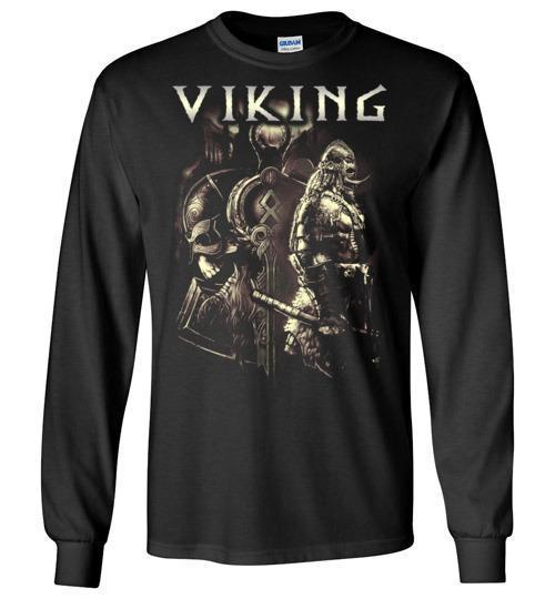 bavipower-viking-jewelry-Viking T-shirt BVP003-BaViPower-Gildan Long Sleeve T-Shirt-Black-S-BaViPower