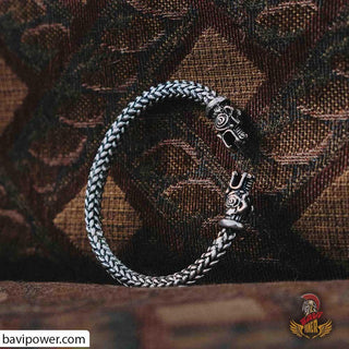Viking Wolf Head Bracelet VK