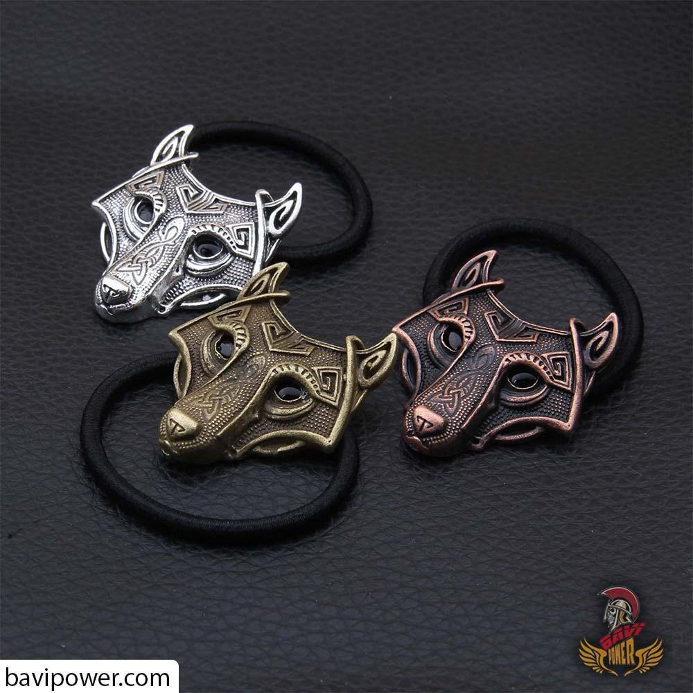 Wolf Head Hair Tie Set of 3 colors