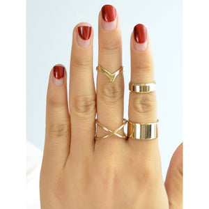 4Pcs/Set Punk Rock Style Knuckle Rings Set