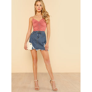 Shirred Front Cami Top