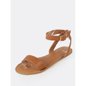 Ankle Strap Single Band Flat Sandal