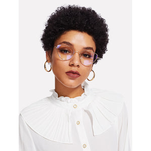 Cat Eye Metal Frame Glasses