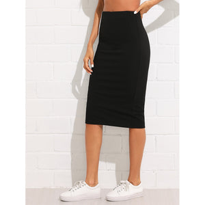 Contrast Panel Slim Skirt