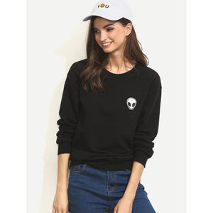 Alien Applique Sweatshirt