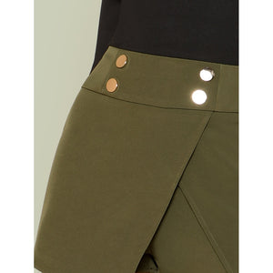 Asymmetrical Skort with Buttons