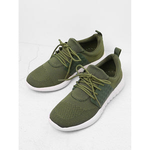 Net Panel Lace Up Trainers