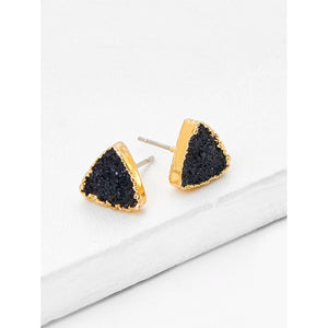 Contrast Triangle Design Stud Earrings
