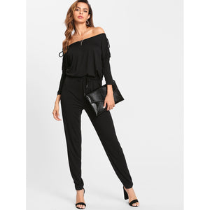 Bardot Lace Up Detail Jumpsuit