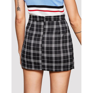 Colorful Striped Tartan Skirt