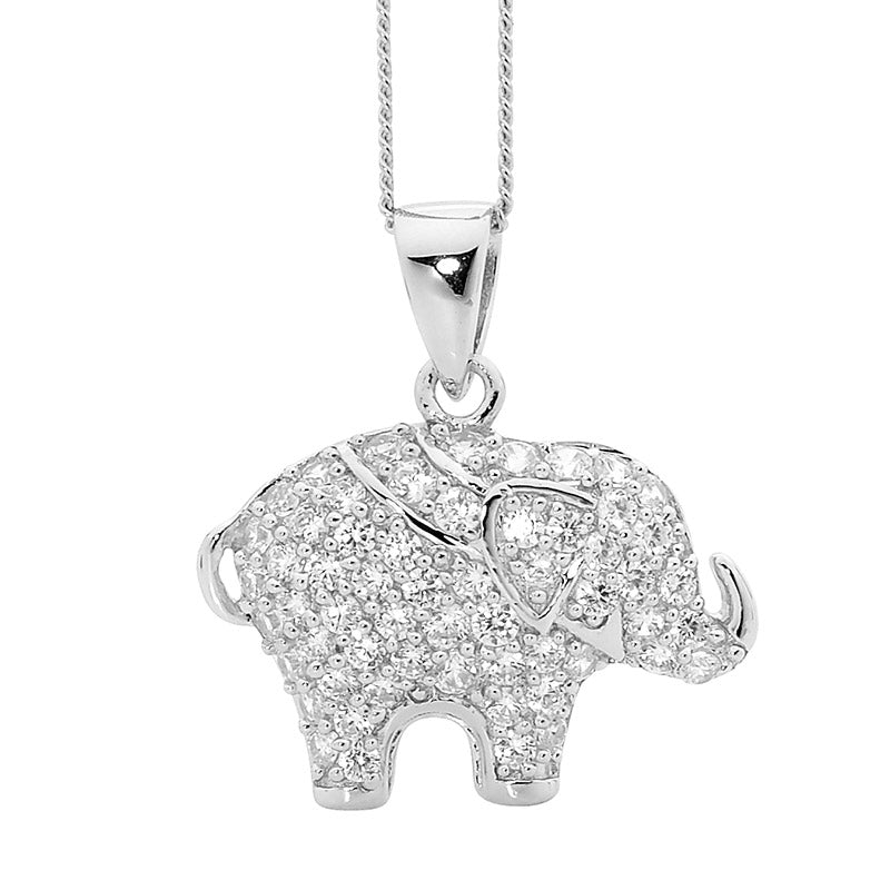 Sterling silver elephant pendant necklace blackheath jewellery in sterling silver elephant pendant necklace blackheath jewellery in leura aloadofball Image collections
