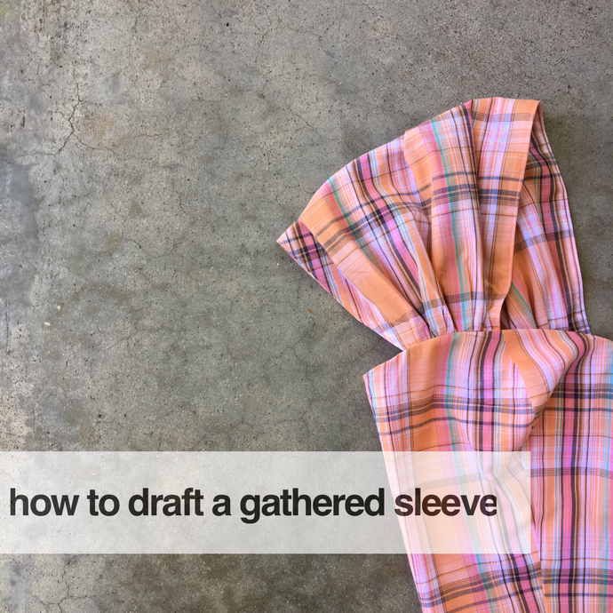 How to draft a gathered sleeve for a strapless bodice