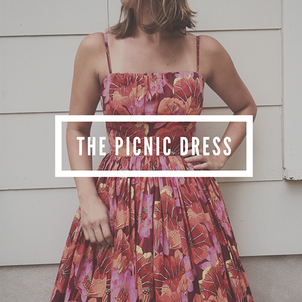 It's here! Introducing the Picnic Dress Sewing Pattern