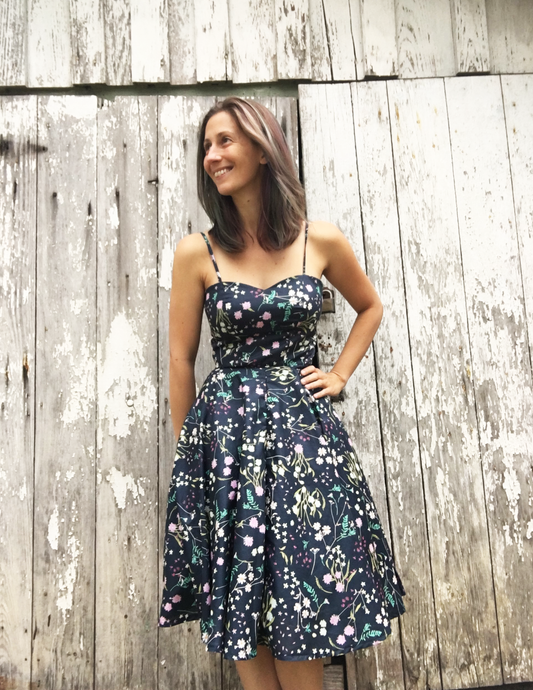Favorite Dress in Navy Floral - XS