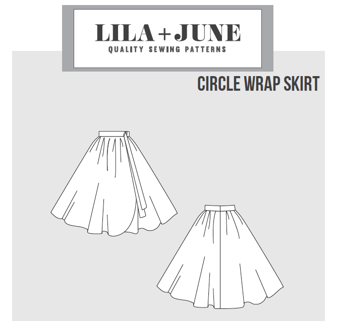 Wrap Skirt Pattern – Lila + June