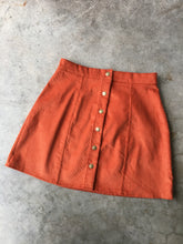 Corduroy Mini in Burnt Orange
