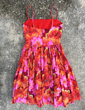 Gathered Bust Dress in Red Floral - XS