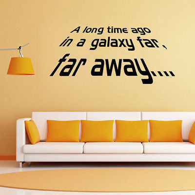 Removable Star Wars Story Quote Wall Stickers Vinyl Wall Decals ...