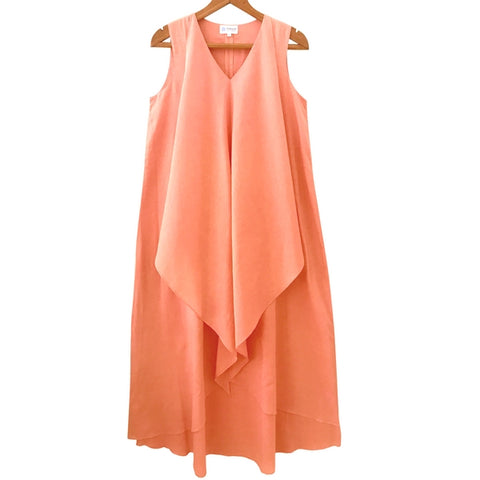 Peach Mulmul Maxi Dress