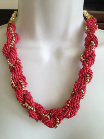 Sweetheart Glass bead necklace - Tunique Design