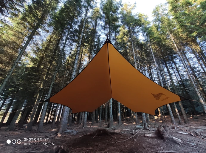 Nylon tarp cover for rain and weather during camping