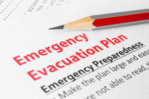 Emergency preparedness checklist with red pencil stating