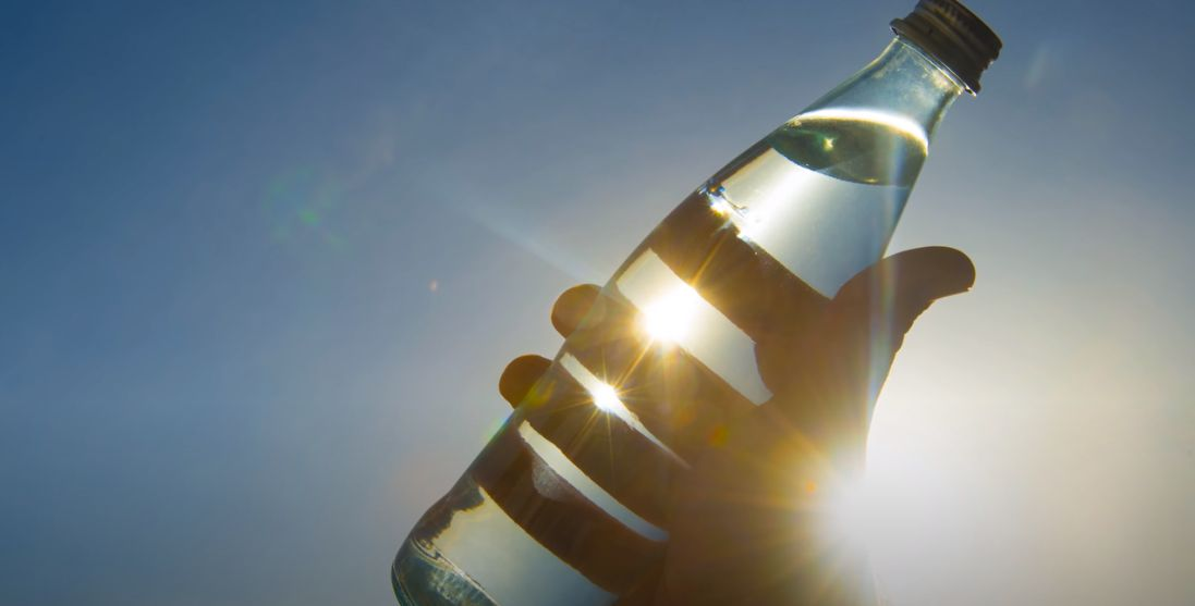 Using the sun to disinfect water